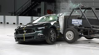 2016 Ford Mustang side IIHS crash test