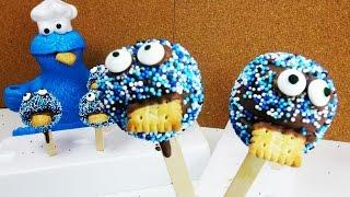 Krümelmonster Cake Pops der Hit für den Kindergeburtstag für Sesamstraße Fans