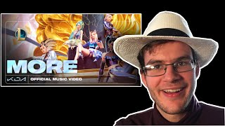 """Songwriter/Producer"" K/DA - MORE [Official Music Video] REACTION"