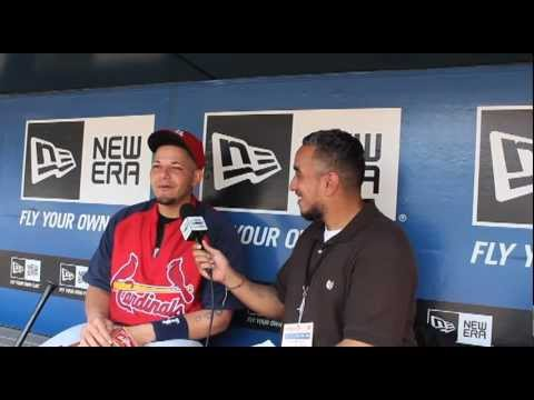 GEMINI KEEZ IN THE PEN WITH ST. LOUIS CARDINAL CATCHER YADIER MOLINA