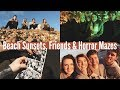 BEACH SUNSETS, FRIENDS & HORROR MAZES | WEEKLY VLOG