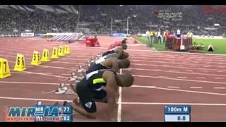 Усэйн Болт - 100м 9.76 - Бриллиантовая лига 2012 - Рим