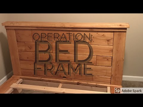 Building a Queen Sized Bed Frame with Headboard