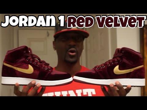 18ef61c78f965c JORDAN 1 RED VELVET HEIRESS 1ST LOOK REVIEW!!! - YouTube