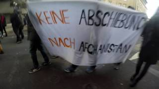 "Welcome In bei der Demo ""Afghanistan is not safe"" am 19.11.2016 in Frankfurt"