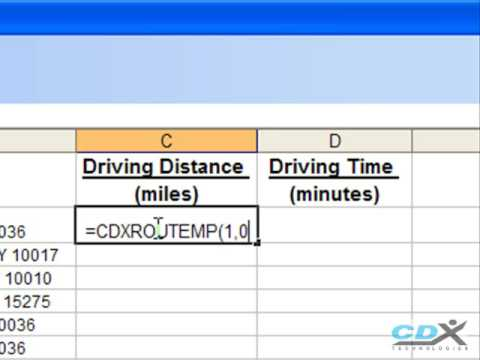 Driving Distance Calculator in Excel - YouTube