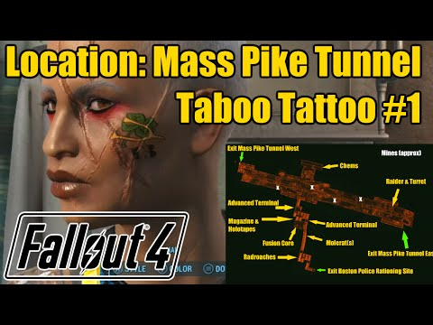 Fallout 4 Locations: Mass Pike Tunnel: Taboo Tattoos Magazine #1 & More
