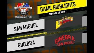 PBA Philippine Cup 2018 Highlights: San Miguel Beer vs. Ginebra Jan. 28, 2018