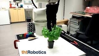 Adaptive Robotic Gripper (2 finger). Handling different herbs