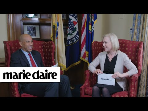 Senators Cory Booker and Kirsten Gillibrand Play How Well Do You Know Your Co-Worker | Marie Claire