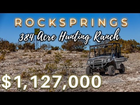 Rocksprings, TX Ranch For Sale: 384 Acre Hunting Ranch