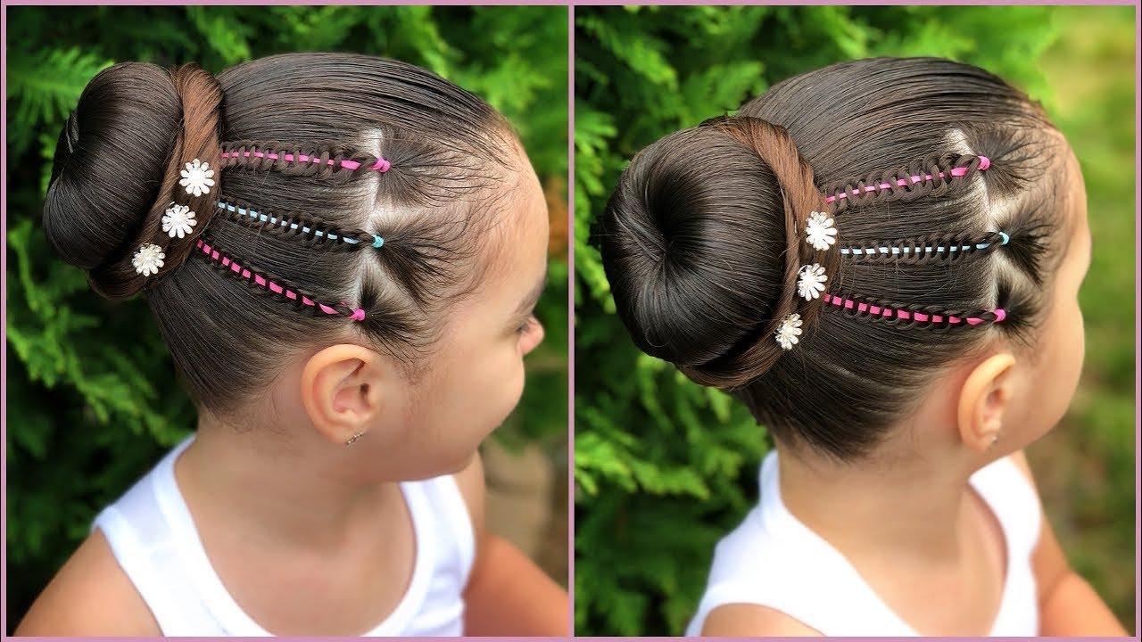 Peinado Para Nina Con Ligas Y Trenza De 4 Cabos Facil Y Rapido De