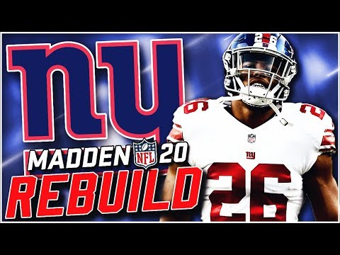 Rebuilding the New York Giants | Saquon Barkley for MVP! Madden 20 Franchise
