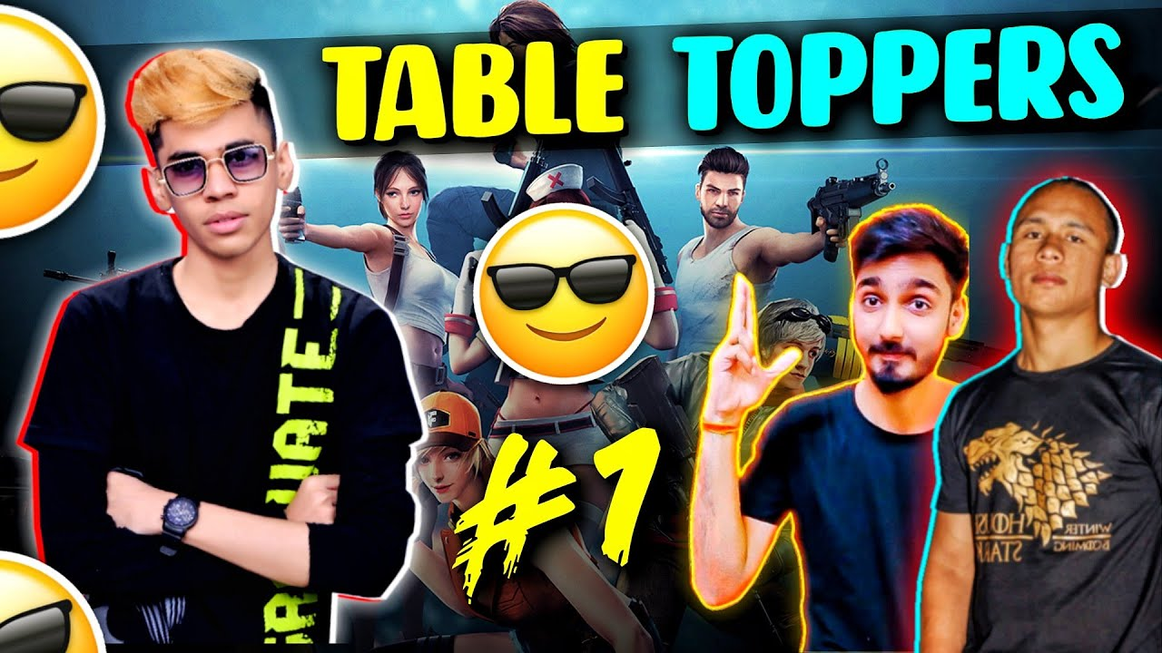 Table Toppers in All Youtuber Tournament😎🔥Total धमाका @Tonde Gamer @Black Flag Army @ADITECH!!
