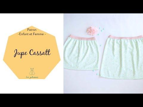 576a069c64bf Comment coudre  2   La jupe élastique Cassatt (patron gratuit) - YouTube