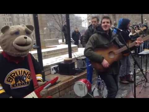 Guster (with Keytar Bear) - Do You Love Me - in Copley Square, Boston on 1/15/15