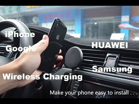 Wireless Charger Car Holder kit for iphone 8/x  Samsung/Magnetic
