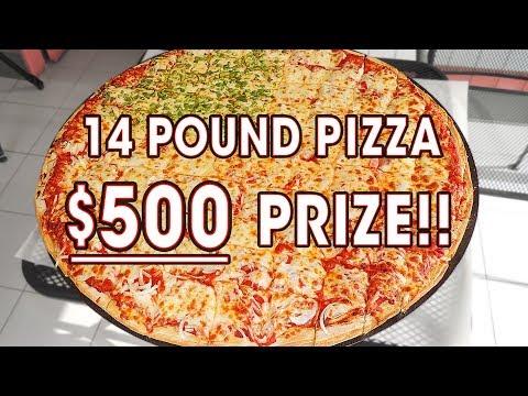 MASSIVE $500 PIZZA CHALLENGE!! (14 POUNDS)