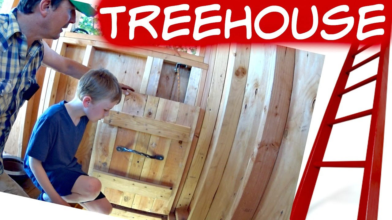 How To Build A Treehouse Trap Door | 32 & How To Build A Treehouse Trap Door | 32 - YouTube