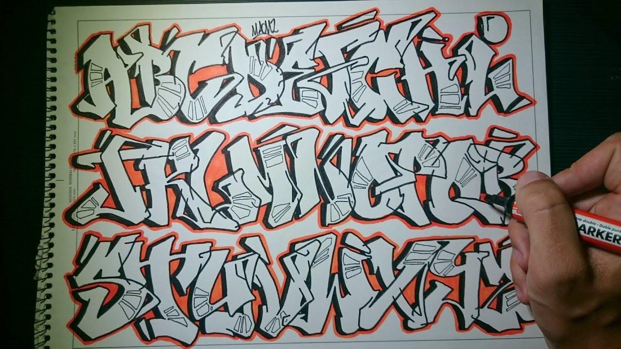 Conhecido Abecedario en Graffiti - Todas las letras - YouTube VE27