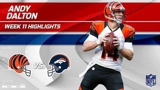 Andy Dalton's 3 TD Day vs. Denver! | Bengals vs. Broncos | Wk 11 Player Highlights