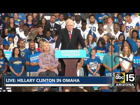 FULL: Warren Buffett endorses Hillary Clinton in Omaha, NE