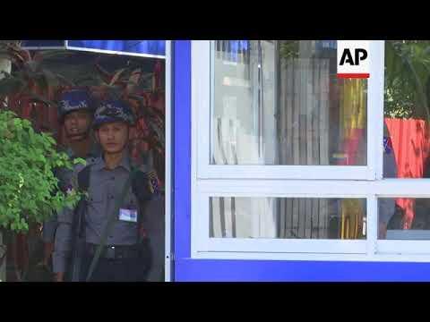 Myanmar - Myanmar prepares camps for returning Rohingya / Petrol bomb thrown at Suu Kyi's Myanmar ho