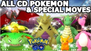ALL CD SHINES & SPECIAL MOVES IN POKEMON GO | EVERY CD SPECIAL MOVE SHOWCASE
