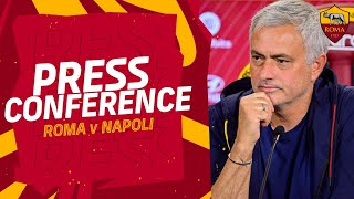 CONFERENZA STAMPA | José Mourinho alla vigilia di Roma-Napoli