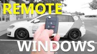 MK7 Remote Window Coding with OBDeleven (both ways)