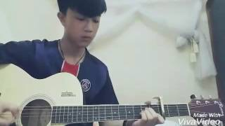 Vì anh là của em-Acoustic guitar cover by Kayle Huyn (Hợp âm C G Am F)