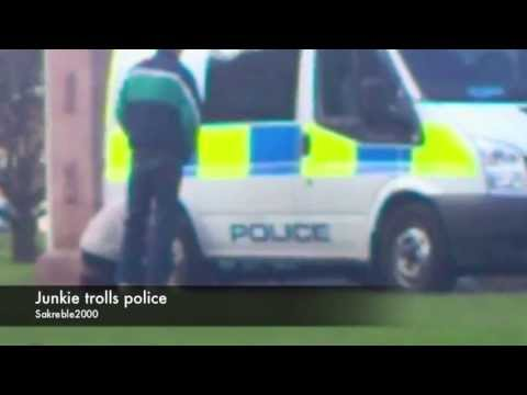 Drunk guy trolls police
