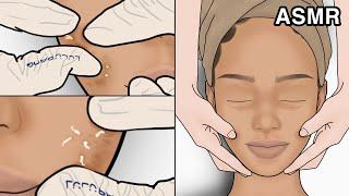 ASMR 피부관리 애니메이션 2탄 시각적 팅글 폭탄 |…