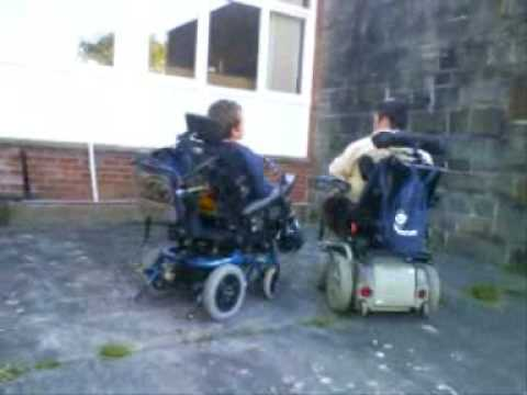 wheelchair fight twin sleeper chair with ottoman youtube