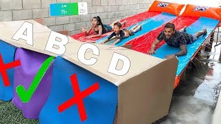 DON'T Water Slide through the Wrong Mystery Box!! (YOU DECIDE)   Familia Diamond