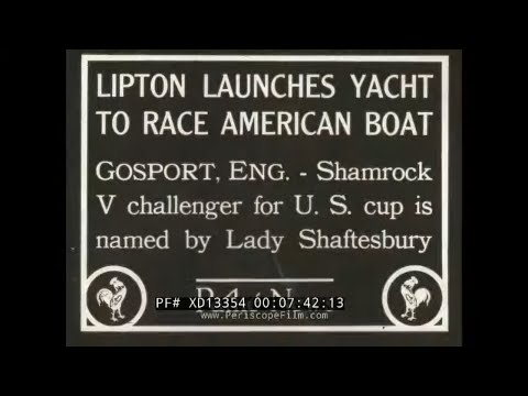 1929-1930 SILENT HOOVER REVIEWS U.S. NAVY    RESCUE OF 'NORTHERN LIGHT'  SIR THOMAS LIPTON  XD13354