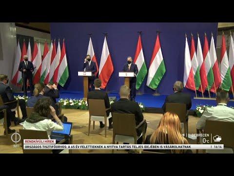 Orbán Viktor és Mateusz Morawieczki sajtónyilatkozatának élő közvetítése thumbnail