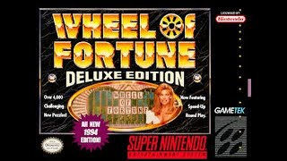 SNES Wheel of Fortune Deluxe Edition Game #1