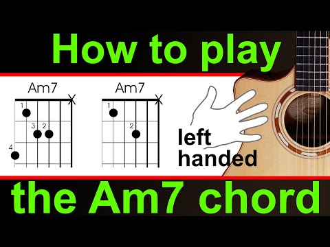 left handed guitar lesson how to play am7 a minor seventh youtube. Black Bedroom Furniture Sets. Home Design Ideas