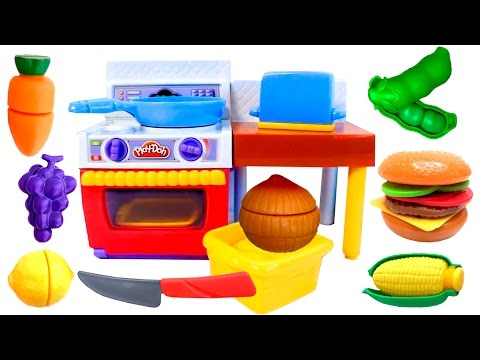 play doh meal makin kitchen playset review play dough cooking set for kids youtube. Black Bedroom Furniture Sets. Home Design Ideas