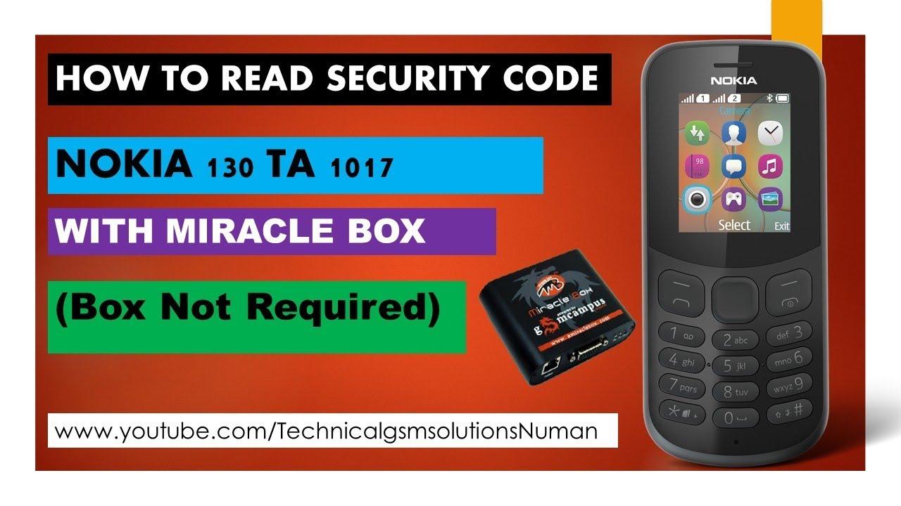 Nokia 130 TA 1017 Security Code Unlock