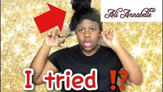 I slayed a slick bun on a wig FT Ali Annabelle Hair