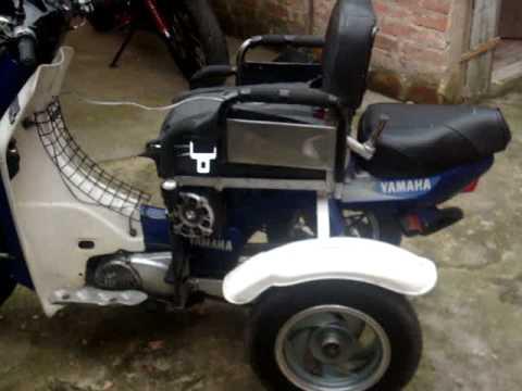 Moto para persona con discapacidad transformada mpg youtube for Sillas para motos