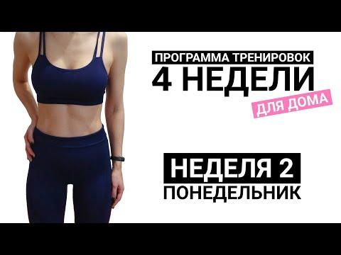 Программа Тренировок для Дома | Сделать ноги стройными и накачать попу | Неделя 2 Понедельник
