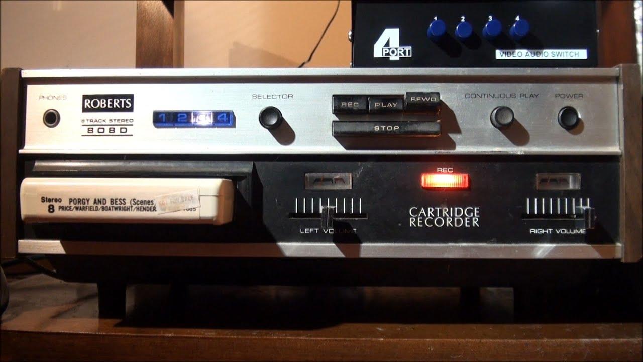 maxresdefault 1972 roberts 808d 8 track stereo cartridge recorder youtube  at soozxer.org