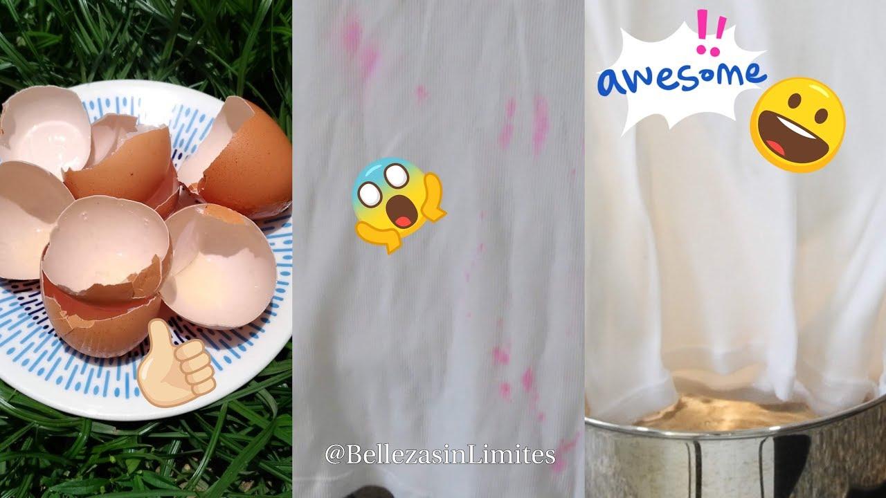Como Desmanchar La Ropa Teñida Por Otra Prenda De Vestir Con Cáscara De Huevo By Belleza Sin Limites Youtube