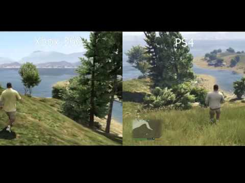 gta 5 split screen gameplay graphics foliage difference. Black Bedroom Furniture Sets. Home Design Ideas