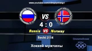Олимпийские игры Сочи 2014 Хоккей мужчины Россия - Норвегия