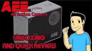 AEE Lyfe Silver 4k Action Camera Unboxing and Short Review