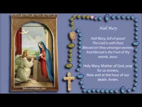 Catholic Rosary Videos: Joyful Mysteries Of The Rosary Video Shows The Words To The Catholic Prayers